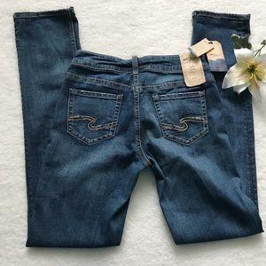 NEW Silver Jeans Suki Straight Mid Rise Denim